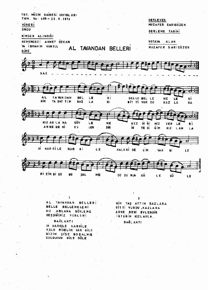 Al Tavandan Belleri - 2 Nota 1