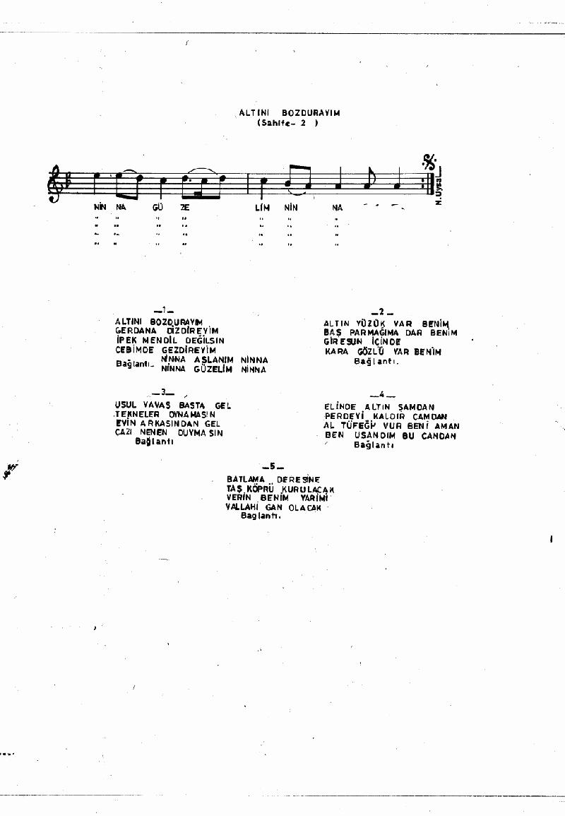 Altını Bozdurayım - 2 Nota 2
