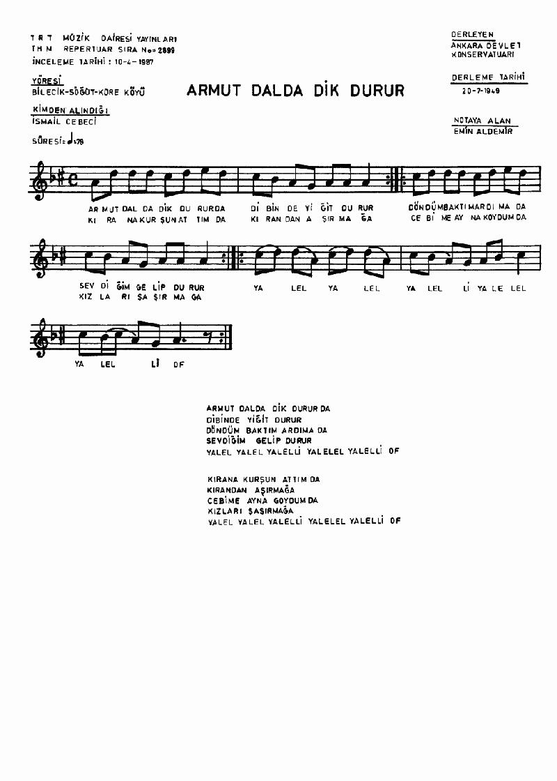 Armut Dalda Dik Durur - 1 Nota 1