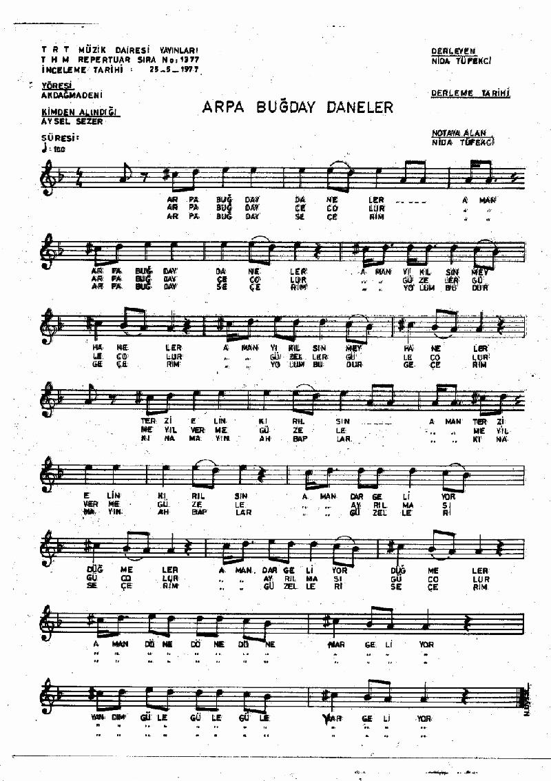 Arpa Buğday Daneler - 2 Nota 1