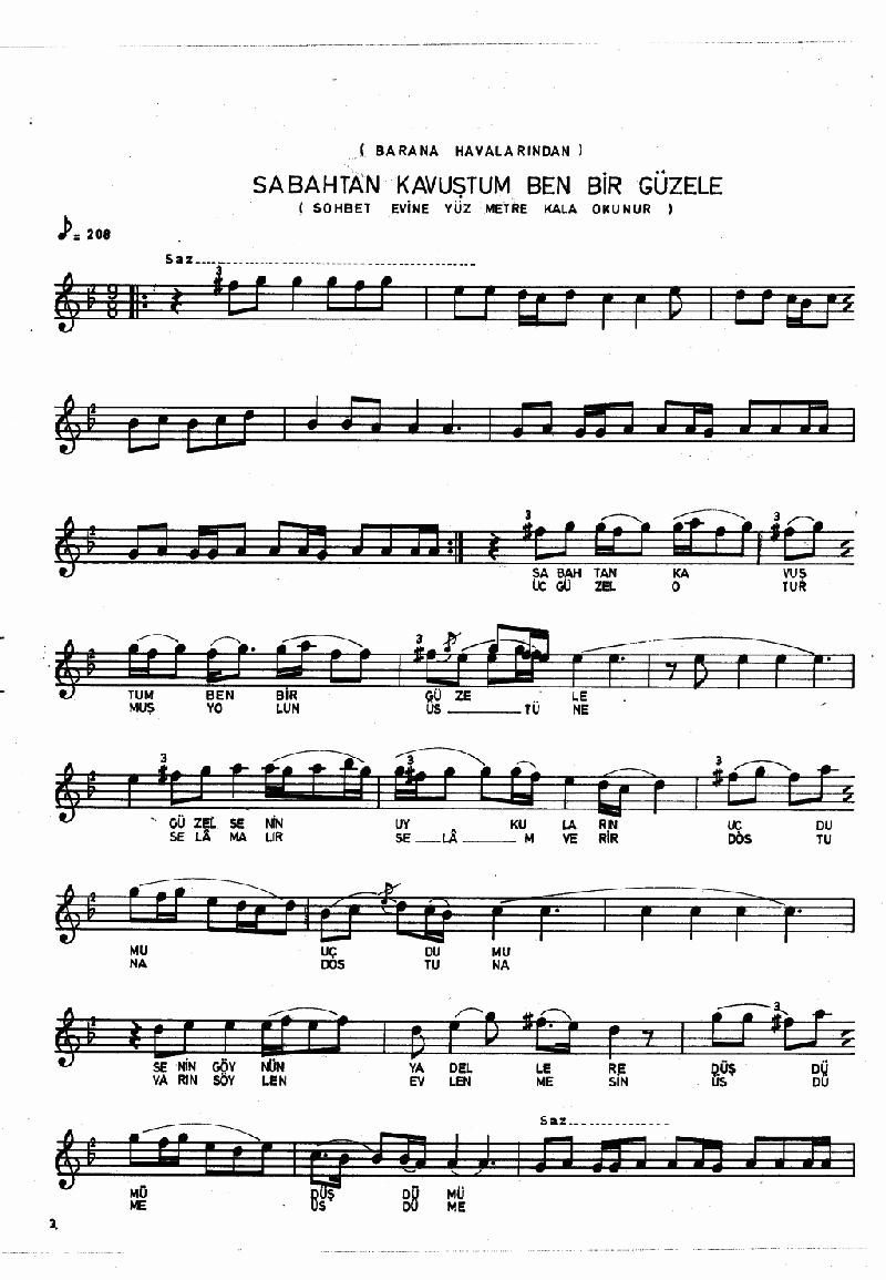 Aşşağı Mehle Hocası (barana Hvl.) Nota 3