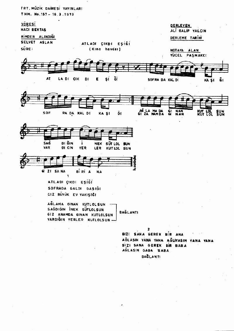 Atladı Çıktı Eşiği - 1 Nota 1
