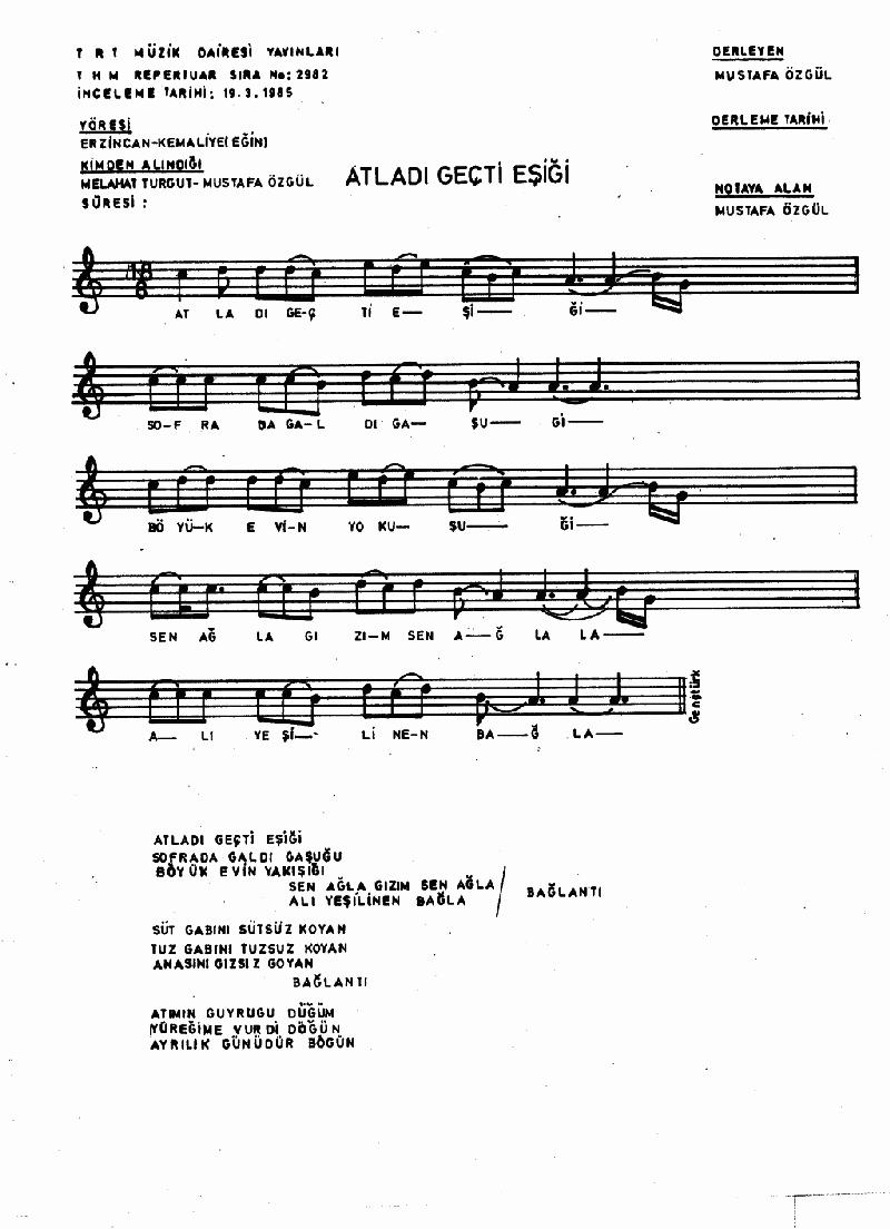 Atladı Geçti Eşiği - 1 Nota 1