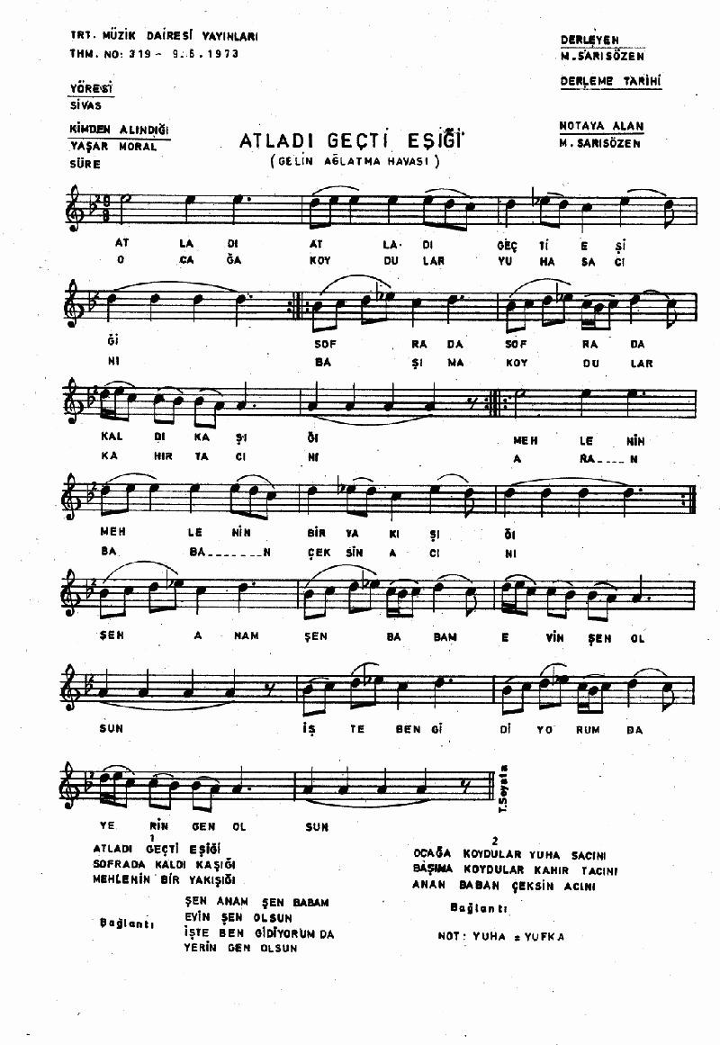 Atladı Geçti Eşiği - 2 Nota 1