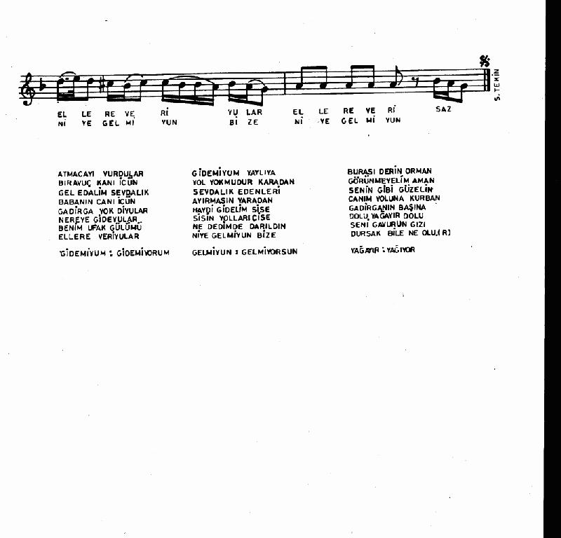 Atmacayı Vurdular Nota 2