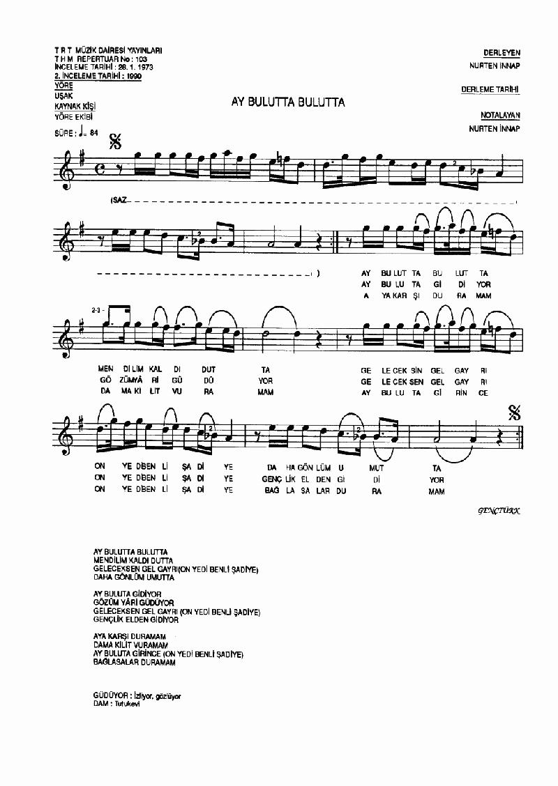 Ay Bulutta Bulutta - 1 Nota 1