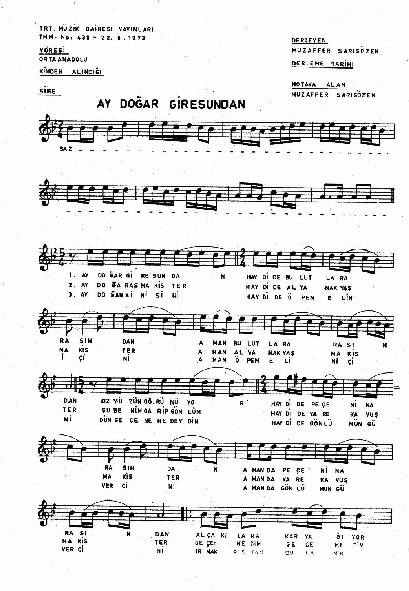 Ay Doğar Giresun'dan Nota 1
