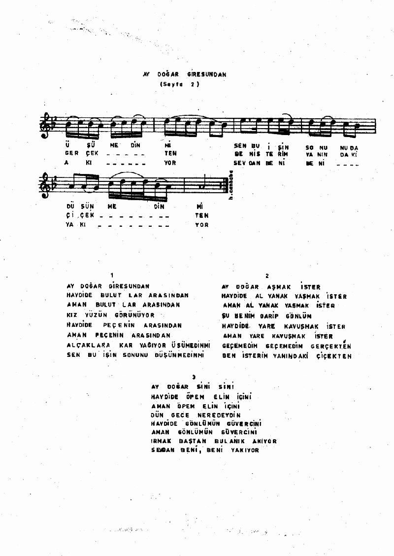 Ay Doğar Giresun'dan Nota 2