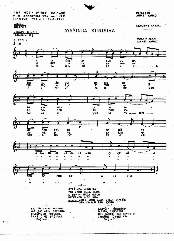 Ayağında Kundura - 1 Nota 1