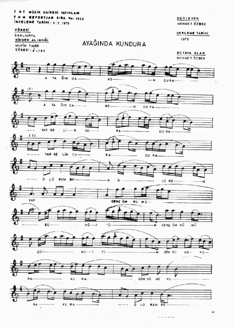 Ayağında Kundura - 2 Nota 1