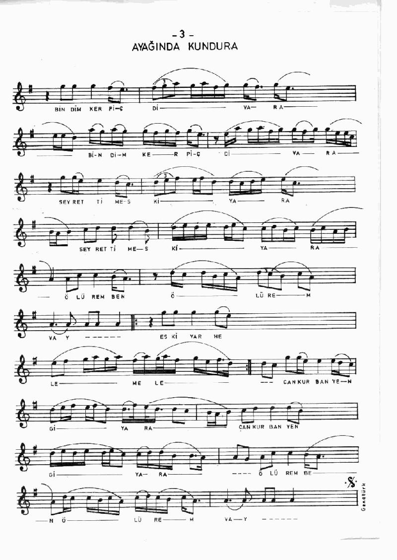 Ayağında Kundura - 2 Nota 3