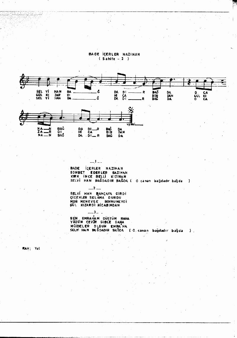 Bade İçerler Nazınan Nota 2