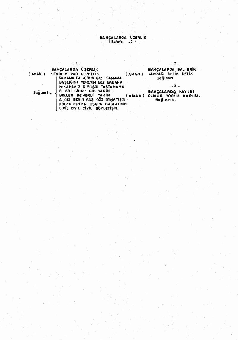 Bahçalarda Üzerlik Nota 2