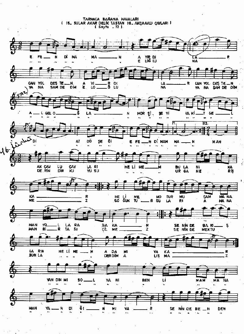 Bakırlım (barana-tarhala Hvl.) Nota 3