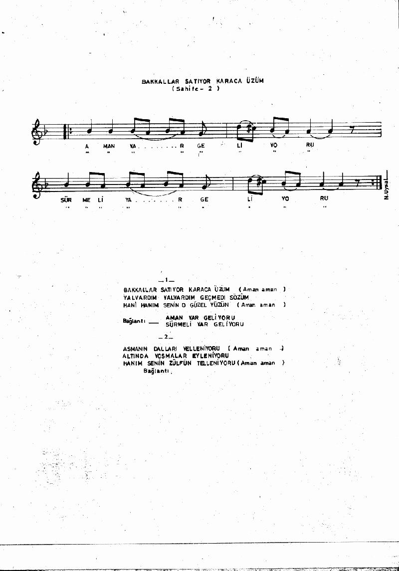 Bakkallar Satıyor Karaca Üzüm - 1 Nota 2