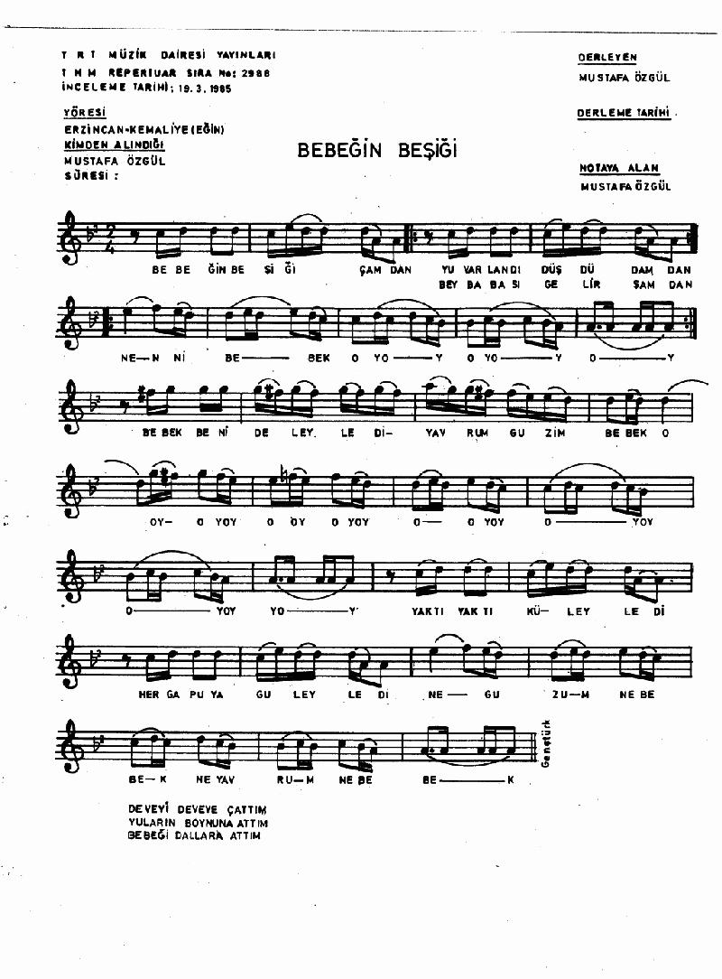 Bebeğin Beşiği Çamdan - 3 Nota 1