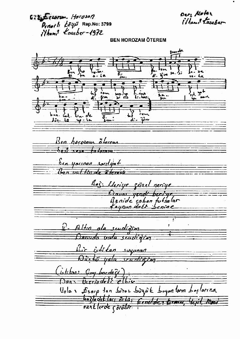 Ben Horozam Öterem - 1 Nota 1
