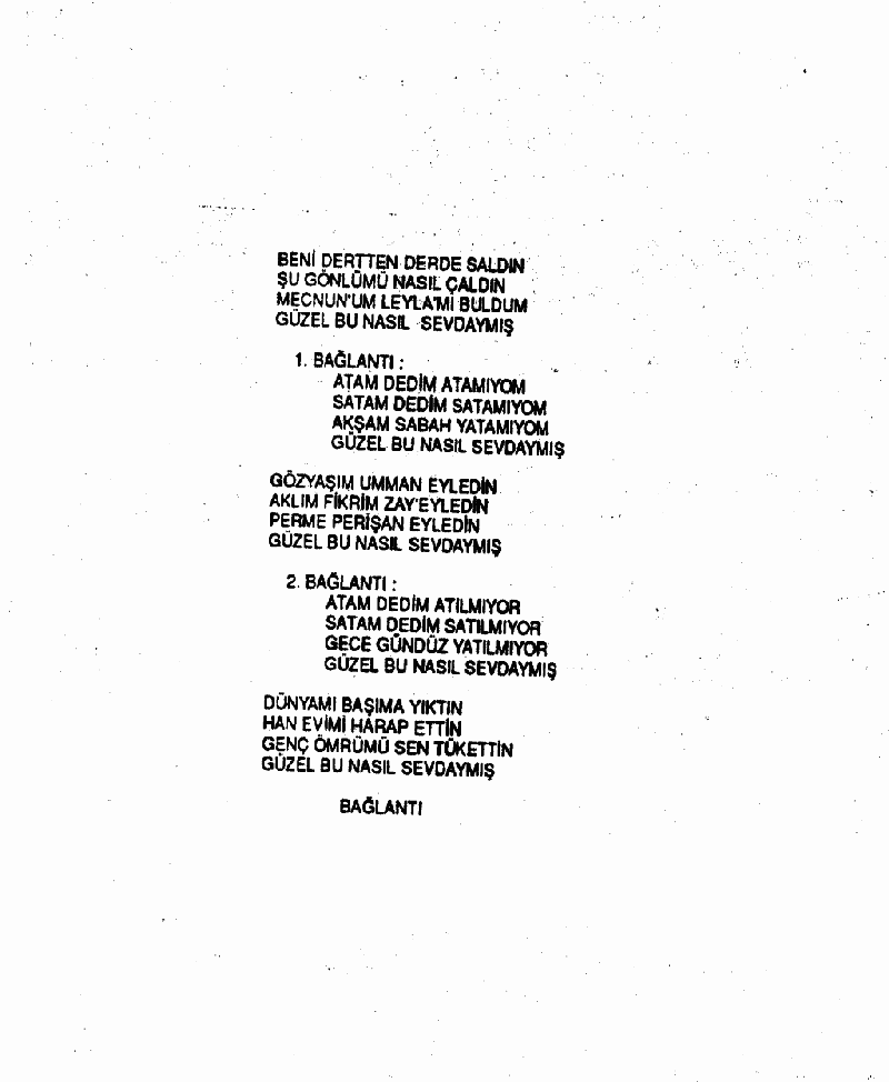 Beni Dertten Derde Saldın Nota 2