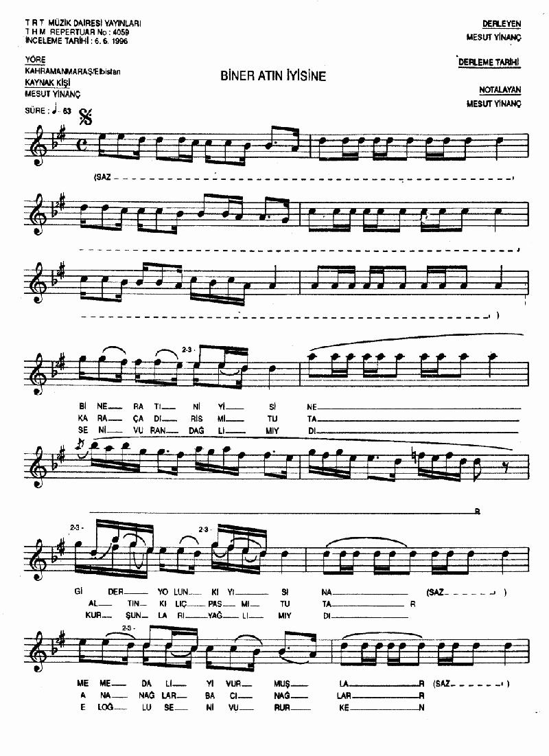 Biner Atın İyisine - 2 Nota 1
